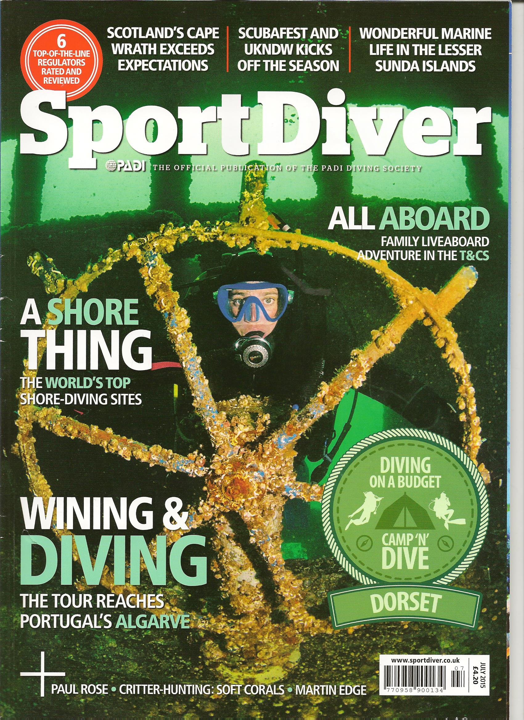 Sport diver Cover June 2015